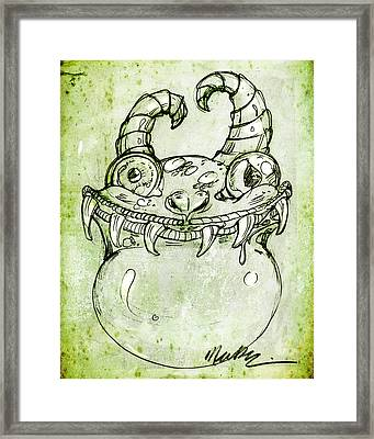 Framed Print featuring the drawing Love Monster by Nada Meeks