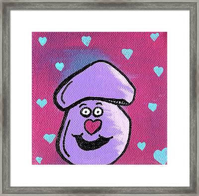Love Mushroom Framed Print by Jera Sky