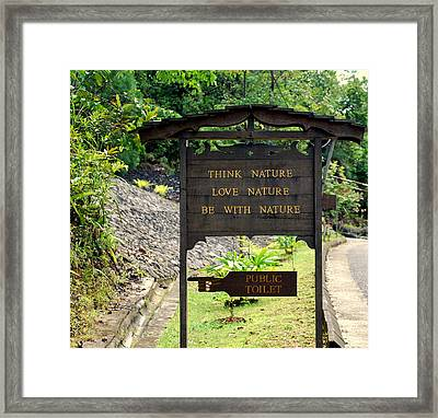 Framed Print featuring the photograph Love Nature by Lynn Hughes
