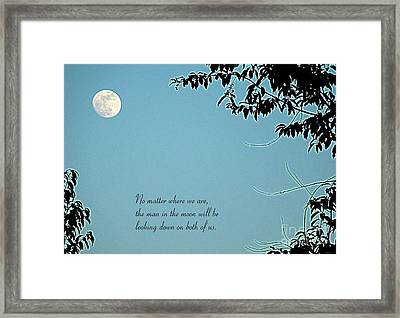 Love Notes Man In The Moon Framed Print by Renee Trenholm