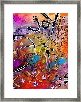 Love Of Life Series - Joy Framed Print by Angela L Walker
