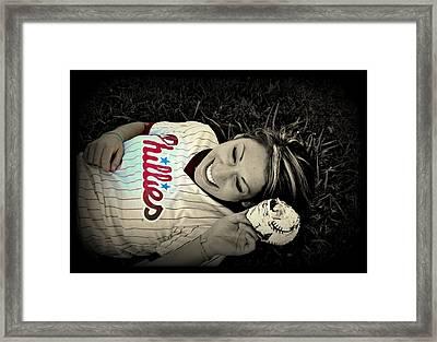 Love Of The Game Framed Print by Ashley Branstetter