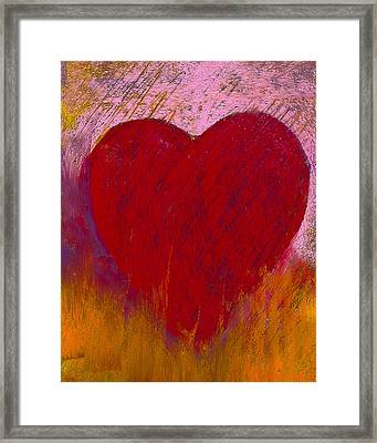 Love On Fire Framed Print by David Patterson