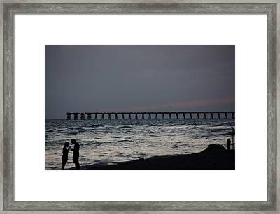 Love On The Beach Framed Print