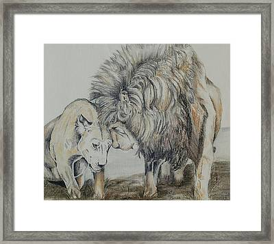 Love On The Plains Framed Print