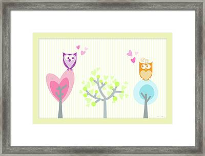Love Owls Framed Print by Nomi Elboim