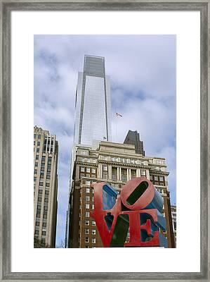 Love Park - Center City - Philadelphia  Framed Print by Brendan Reals