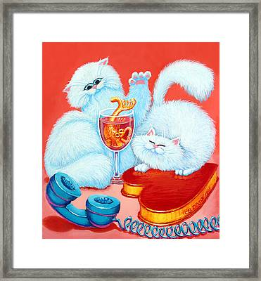 Love Puffs Framed Print by Baron Dixon
