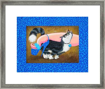 Love Pump Blue Framed Print by Baron Dixon
