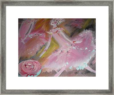 Love Rose Ballet Duet Framed Print