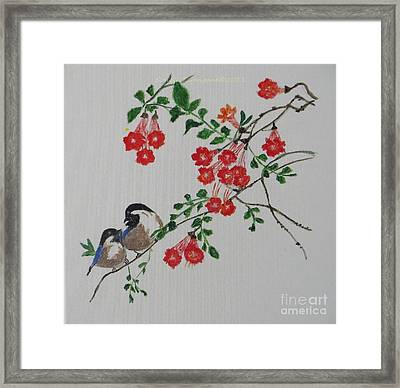 Framed Print featuring the painting Love by Sonali Gangane