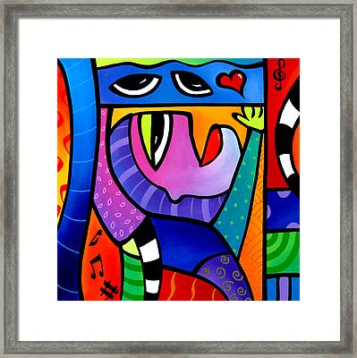 Love Song - Abstract Pop Art By Fidostudio Framed Print by Tom Fedro - Fidostudio