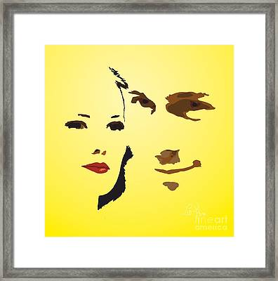 Framed Print featuring the digital art Love Story by Leo Symon