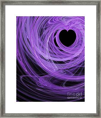 Love Swirls . A120423.689 Framed Print by Wingsdomain Art and Photography