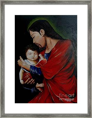 Love The Child Framed Print by Jay Anthony Gonzales