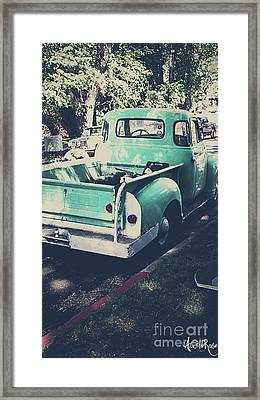 Love The Truck Framed Print by Awildrose Photography