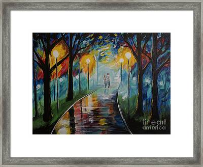 Love The Way You Love Me Framed Print by Leslie Allen