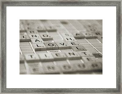 Framed Print featuring the photograph Love Tiled 1 by Mary Hershberger