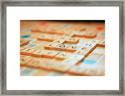 Framed Print featuring the photograph Love Tiled 2 by Mary Hershberger