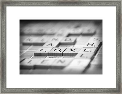 Framed Print featuring the photograph Love Tiled 3 by Mary Hershberger