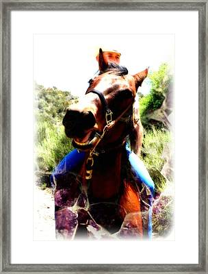 Love To Ride Framed Print by Amanda Eberly-Kudamik