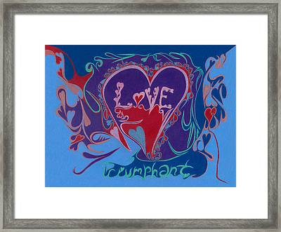Love Triumphant 2nd Of 3  Framed Print by Kenneth James
