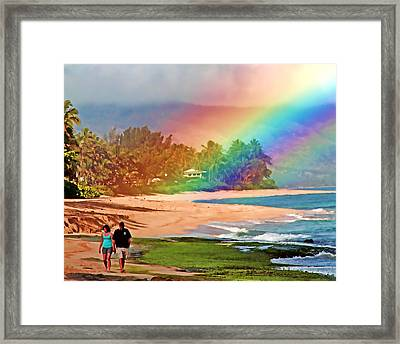 Love Under The Rainbow Framed Print