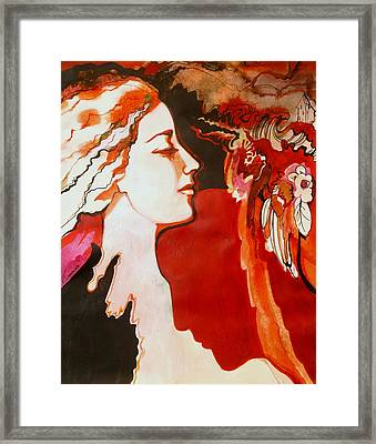 Framed Print featuring the painting Love by Valentina Plishchina