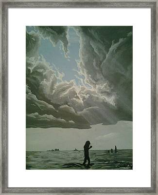 Love Walks On Water Framed Print by Eric Barich
