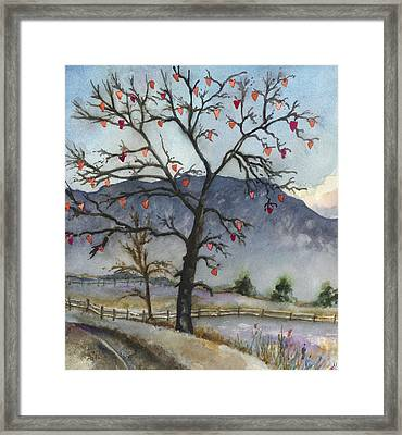 Love Warms Even The Coldest Day Framed Print by Anne Gifford