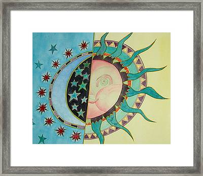 Love You Day And Night Framed Print by Anna Ruzsan