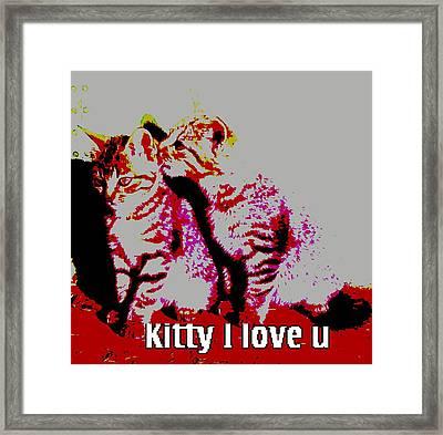 Love You Kitty Framed Print by Jamie ian Smith