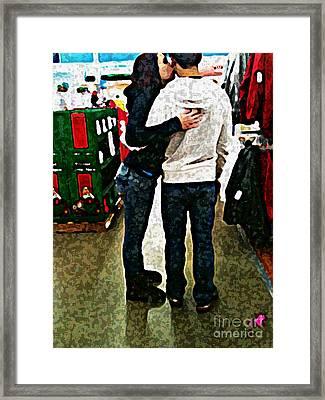 Lovebirds Framed Print by Hilary England