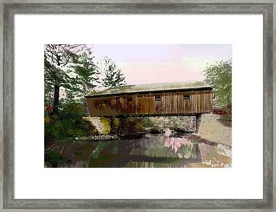 Lovejoy Covered Bridge Framed Print by Charles Shoup