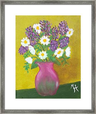 Framed Print featuring the painting Lovely Lavender by Margaret Harmon