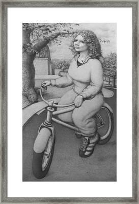 Lovely Little Plump Lady Framed Print by Louis Gleason