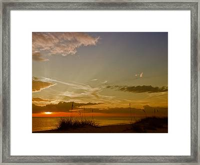 Lovely Sunset Framed Print