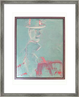 Lover With Hat On Fire  Framed Print by Harry  Nash