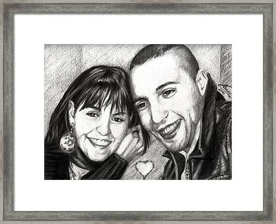 Lovers Framed Print by Alban Dizdari