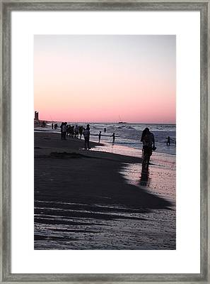 Lovers At Sunset Framed Print by Audra Crouch
