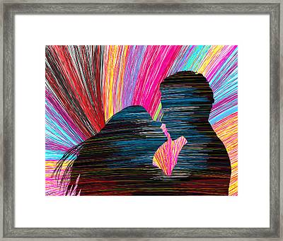 Lovers In Colour No.1 Framed Print by Kenal Louis