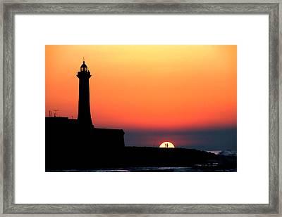 Lovers In The Sunset Framed Print