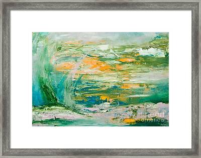 Lover's Land Of Hope Framed Print by Martina Dresler
