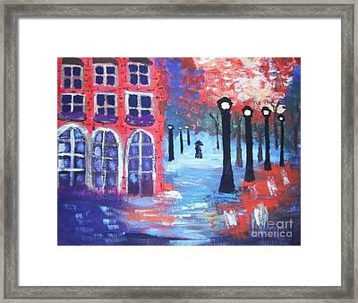 Lovers Lane Framed Print by Jeannie Atwater Jordan Allen