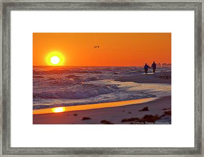 Framed Print featuring the photograph Lover's Stroll by Charles Warren