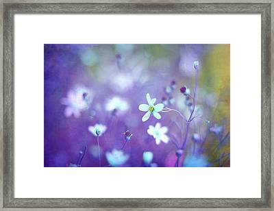 Lovestruck In Purple Framed Print by Amy Tyler