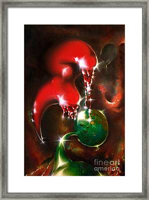 Loving Aliens Framed Print by Helge Peters