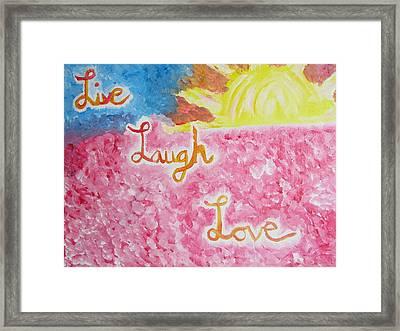 Loving Life Framed Print by Hannah Stedman