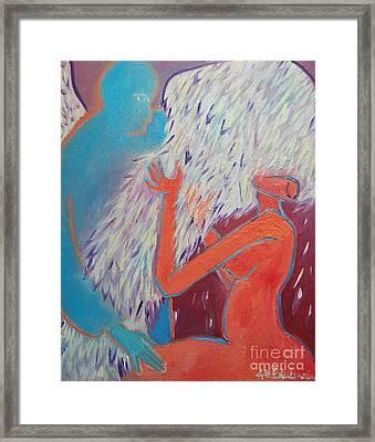 Loving My Angel Framed Print by Ana Maria Edulescu