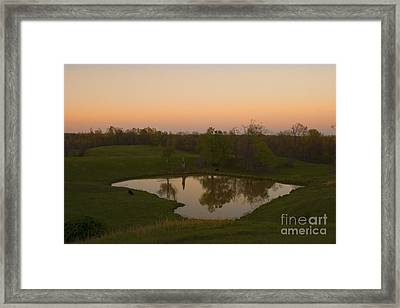 Loving The Sunset Framed Print by Cris Hayes